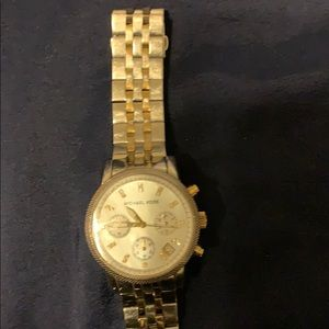 MK 2 tone silver and gold watch